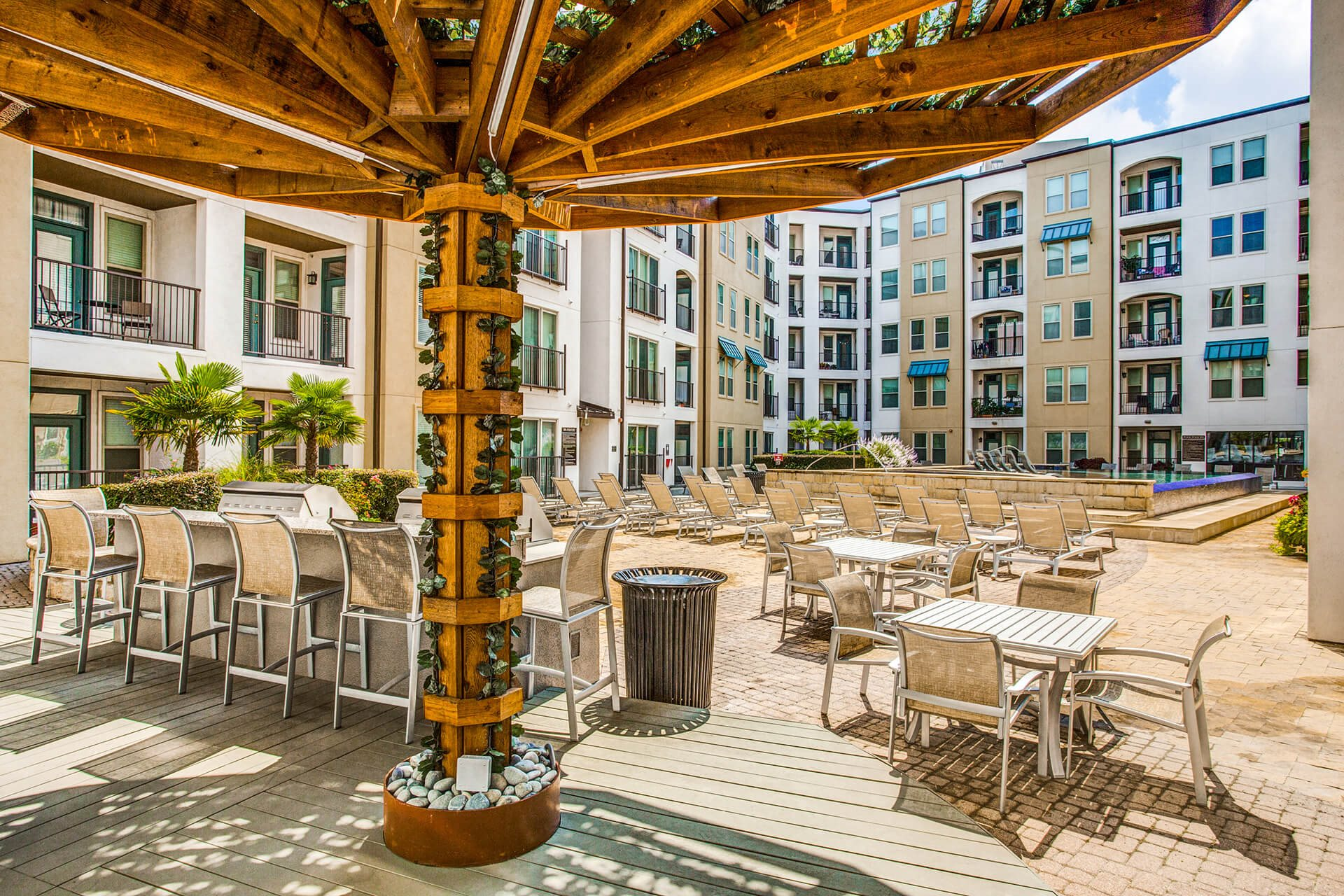 Outdoor seating area at The Monterey by Windsor, 75240, TX