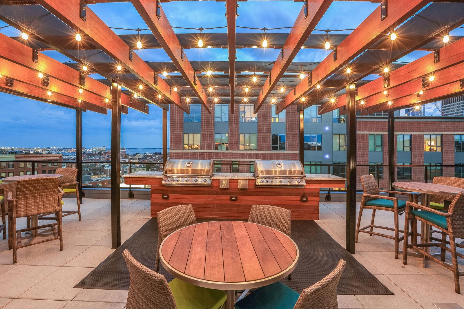 Gas Grills on Sky Terrace at The Victor by Windsor, Boston, MA