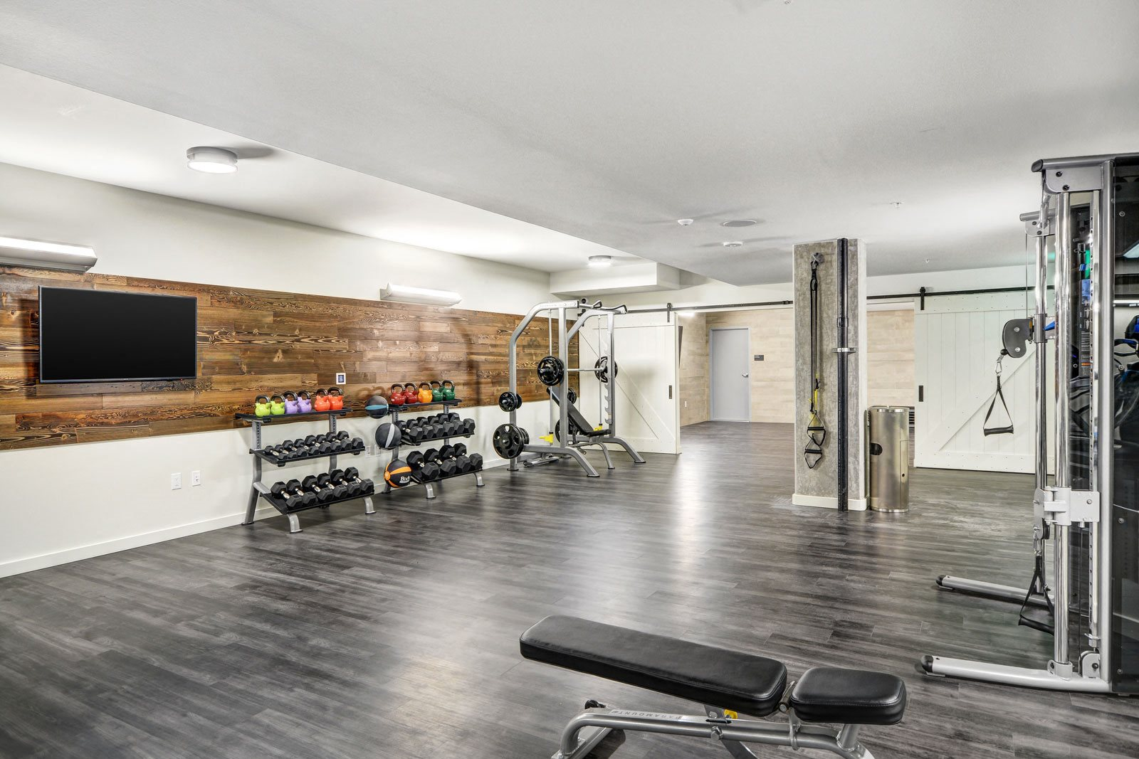 Fully-Equipped Fitness Center at The Whittaker, 4755 Fauntleroy Way, Washington