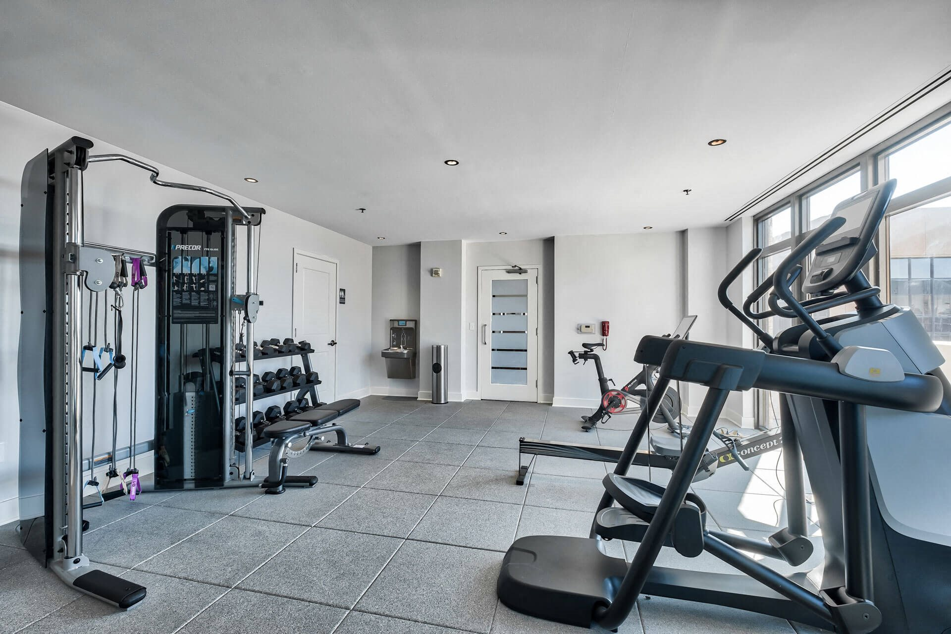 Free Weights And Cardio Equipment at Halstead Tower by Windsor, Alexandria, Virginia