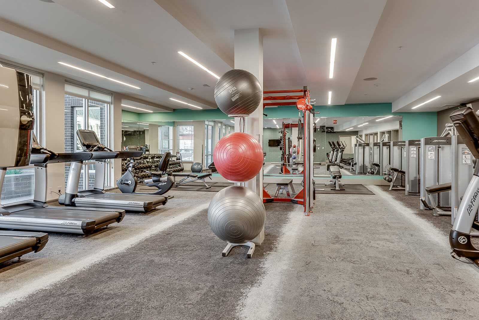 Cardio and Weightlifting Equipment in Fitness Center at The Casey, Colorado, 80202