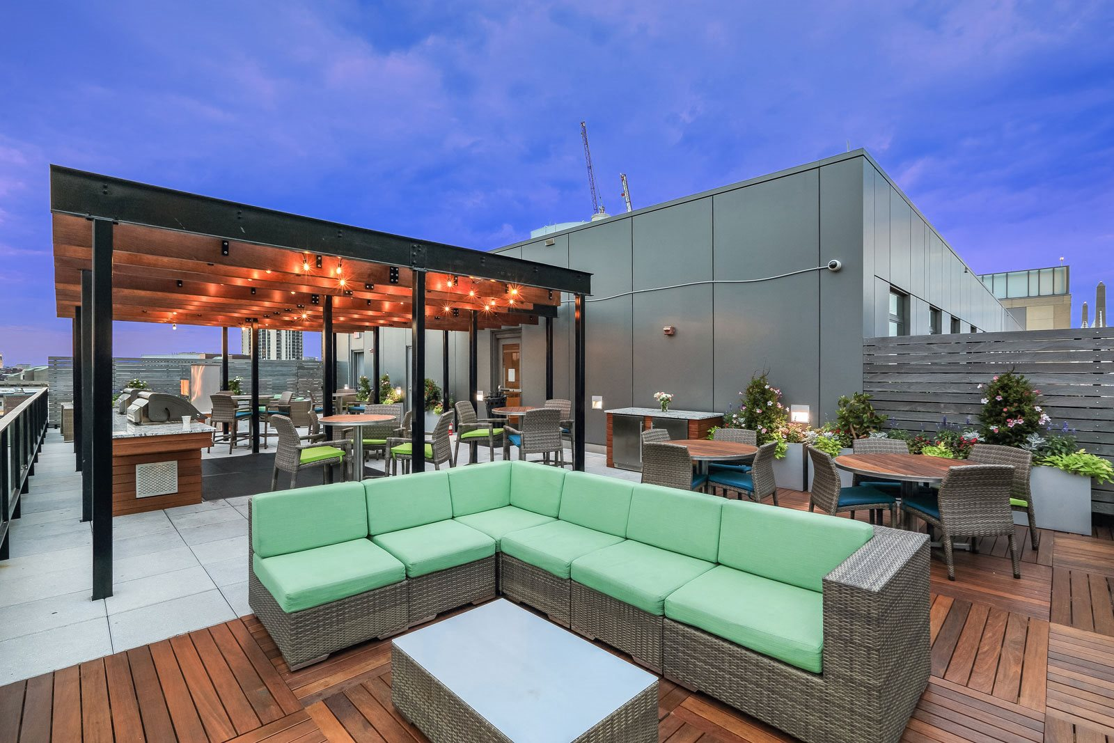 Rooftop Oasis with City Views at The Victor by Windsor, Boston, Massachusetts