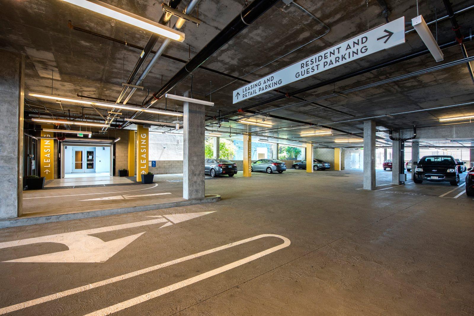 Reserved, Assigned Parking in Garage at Malden Station by Windsor, 250 W Santa Fe Ave, Fullerton