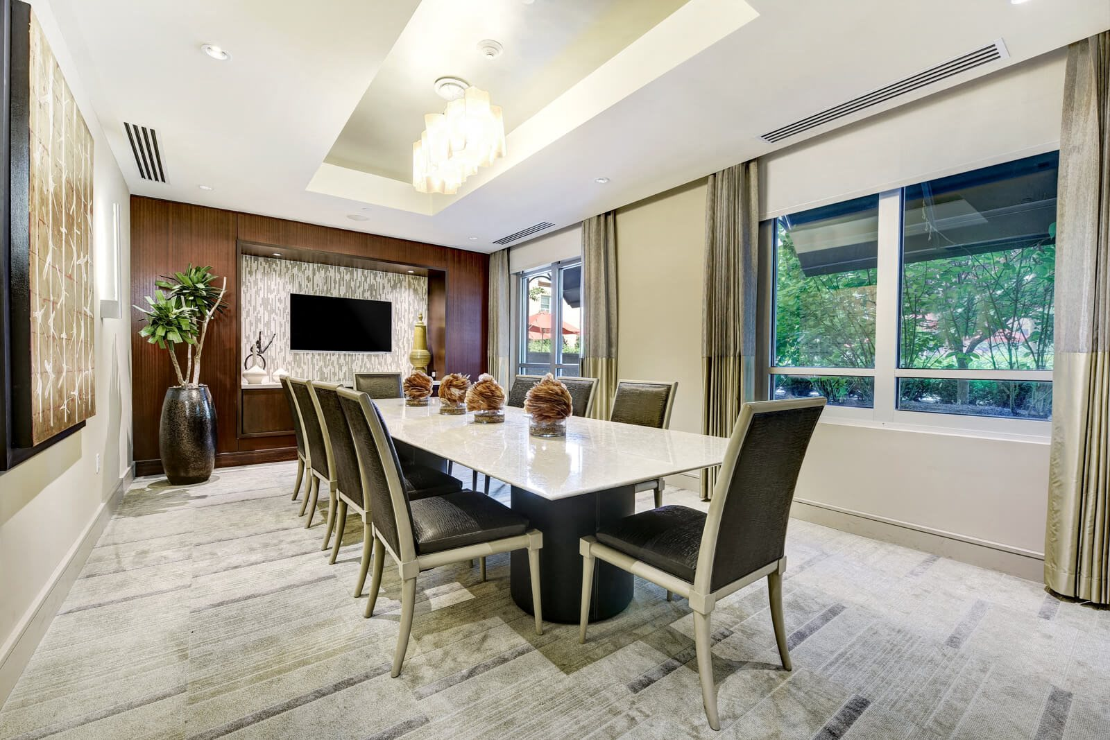 Private Dining Room In Club Suite at Windsor at Cambridge Park, 160 Cambridge Park Drive, MA