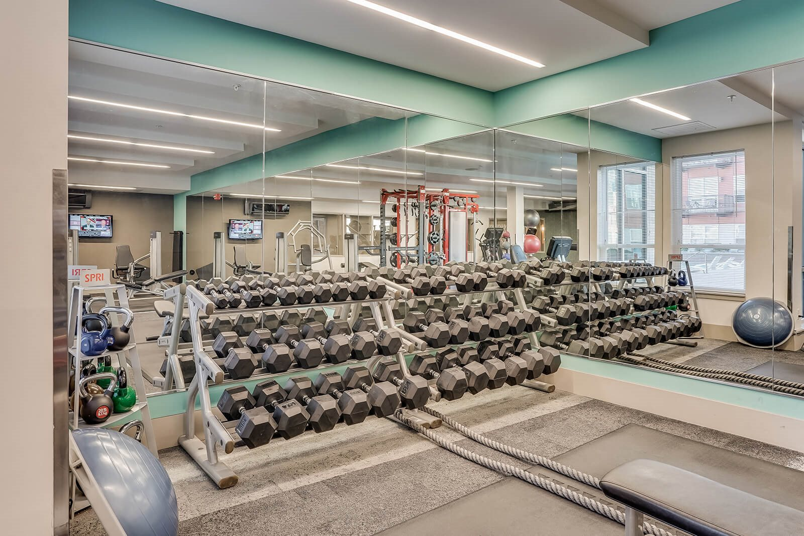 Fitness Center with Large Free Weights Selection at The Casey, 80202, CO
