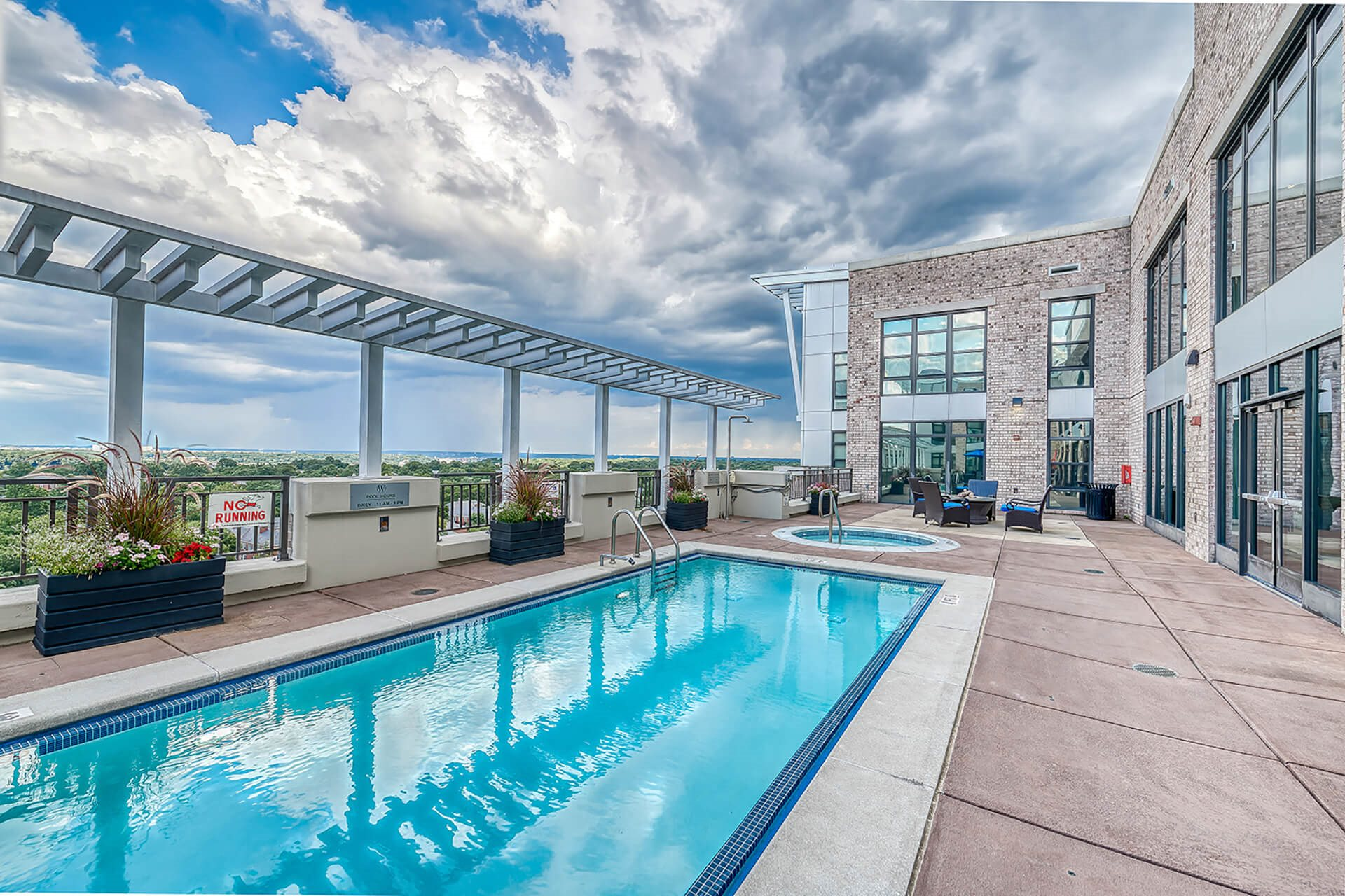 Rooftop pool, at Halstead Tower by Windsor, 22302, VA