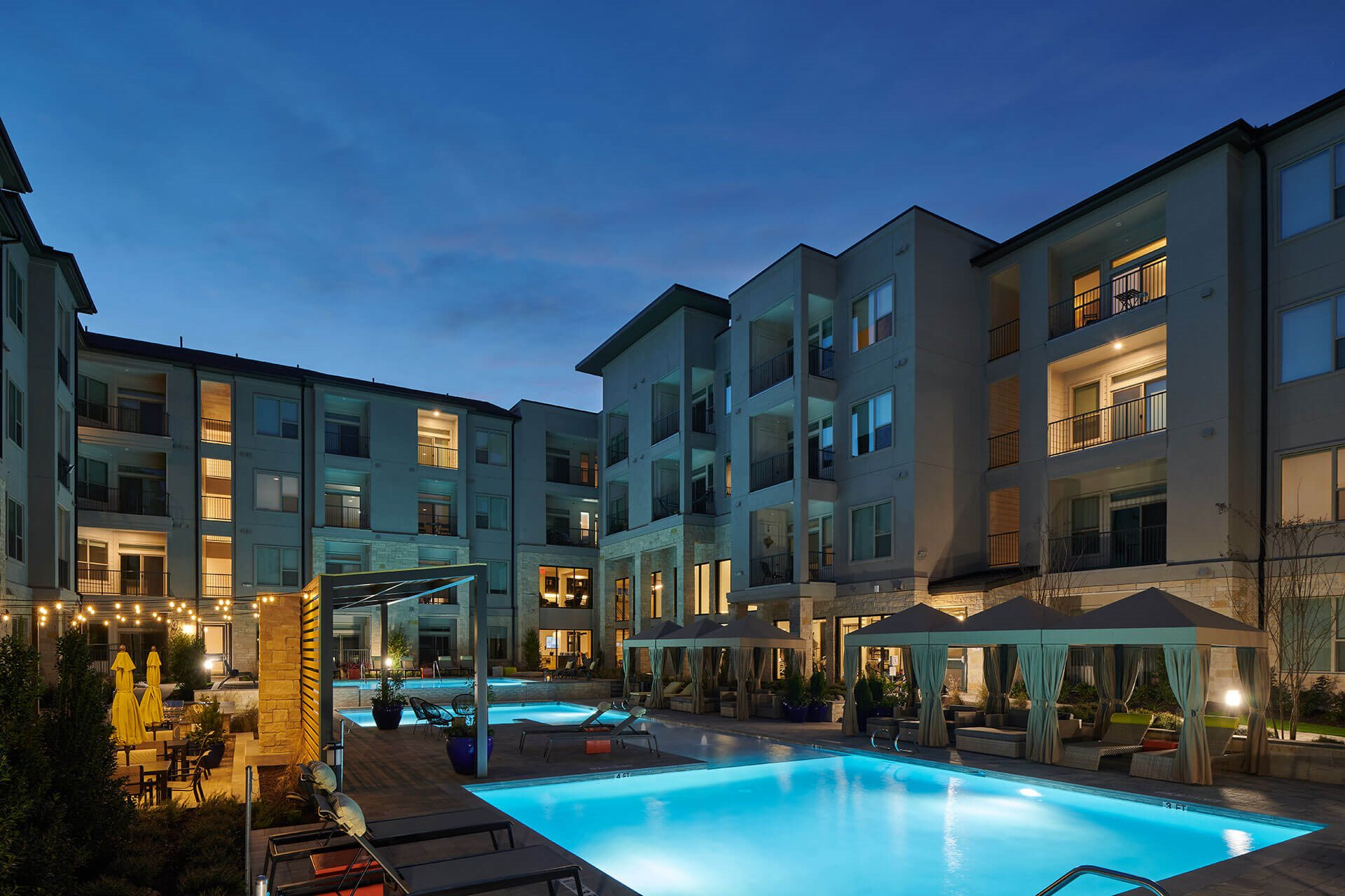 Expansive Indoor and Outdoor Amenity Spaces at Windsor Burnet, Austin, Texas
