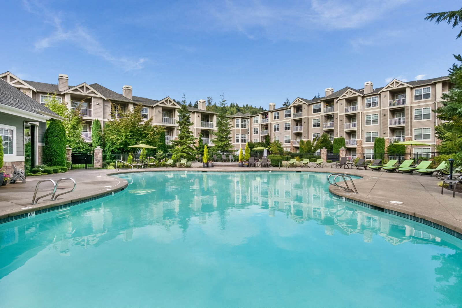 Poolside Sundeck at The Estates at Cougar Mountain, Issaquah, Washington