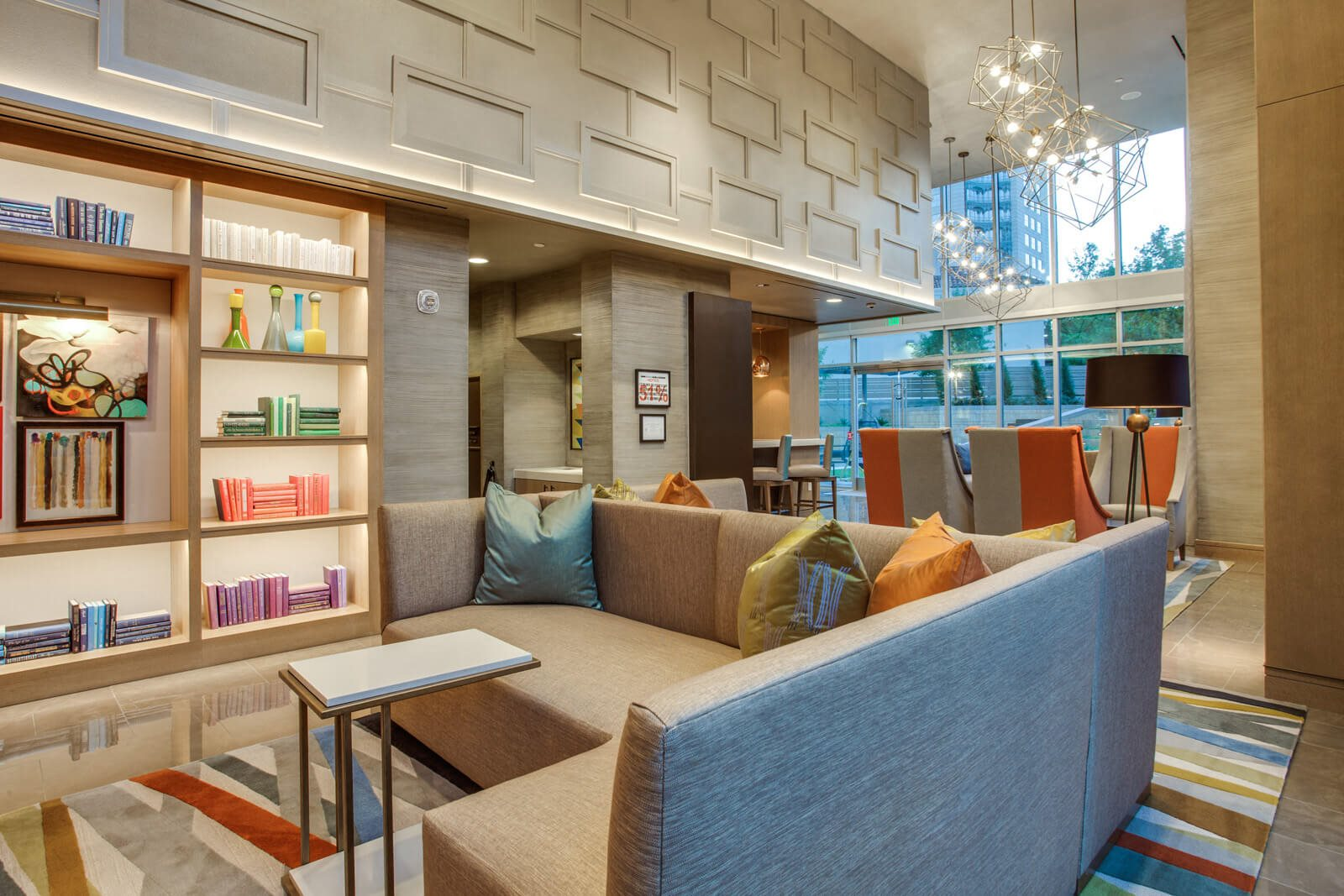 Expansive Lobby with Lounge Spaces at The Jordan by Windsor, 2355 Thomas Ave, TX