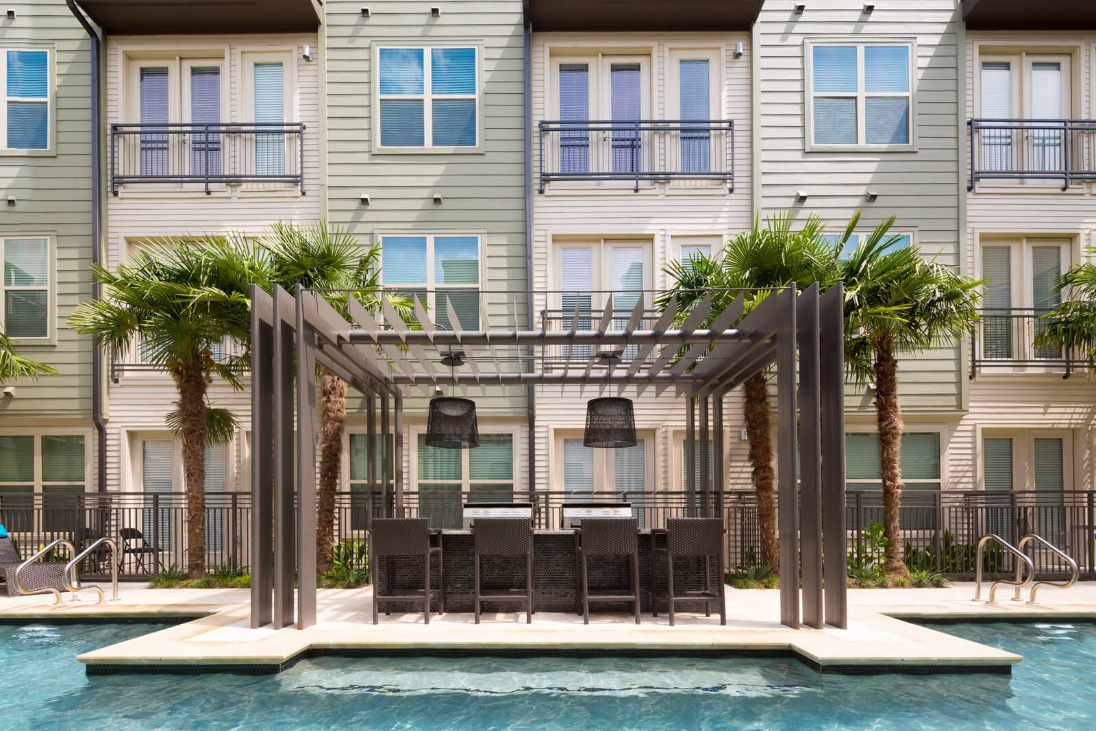 Poolside Grilling Stations and Dining Island at Windsor West Lemmon, 75209, TX
