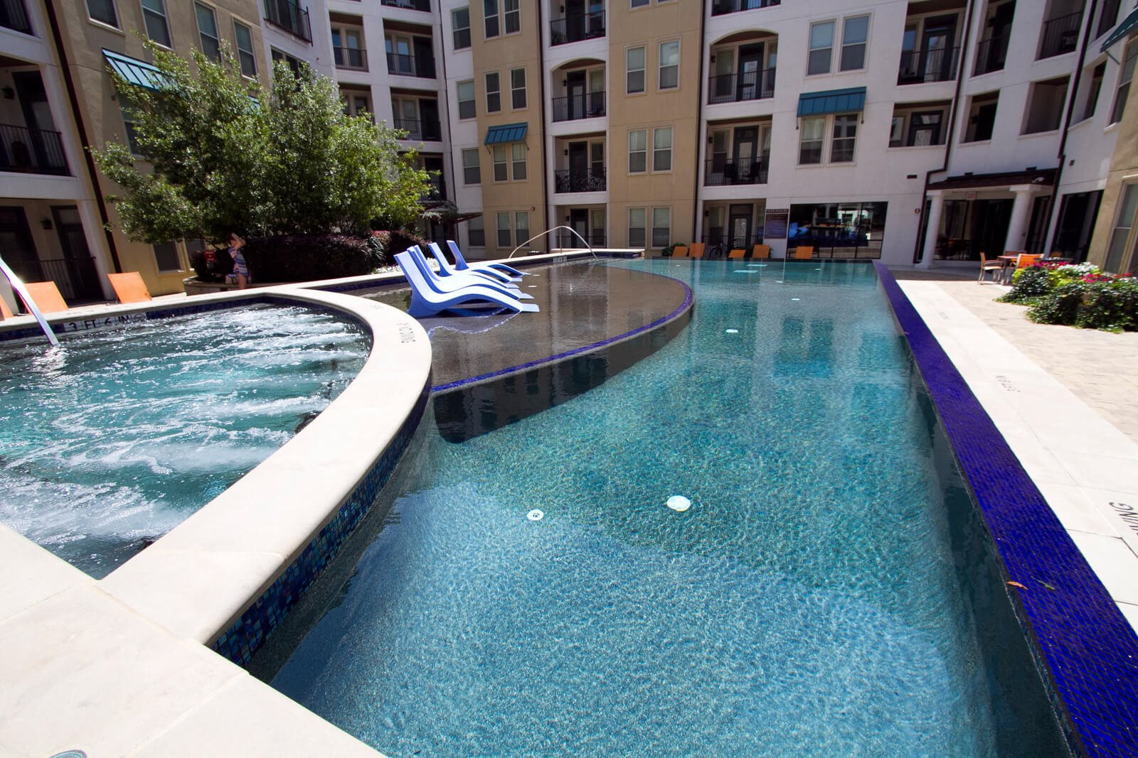 Acapulco-Style Swimming Pool at The Monterey by Windsor, 3930 McKinney Avenue, TX