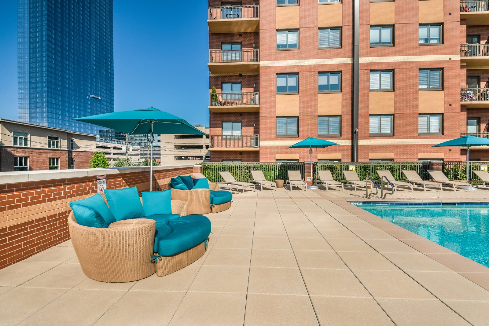 Lounge Area by  Heated Pool at Twenty50 by Windsor, 07024, NJ