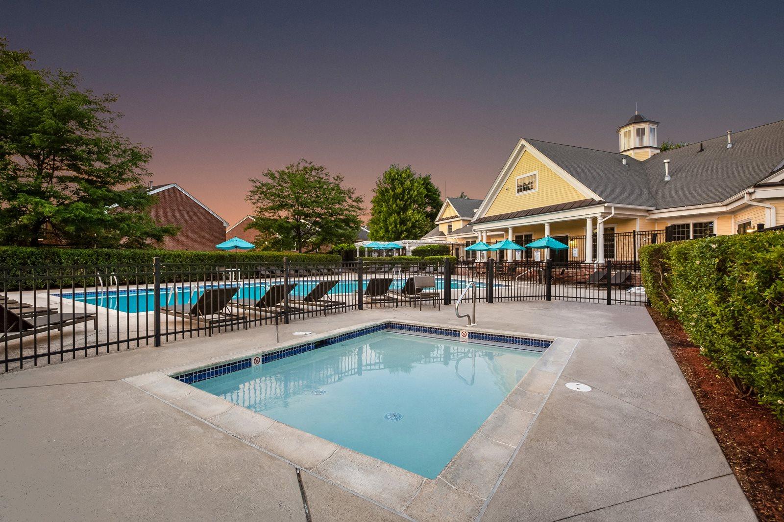 Swimming Pool and Spa at Windsor Ridge at Westborough, Westborough, MA