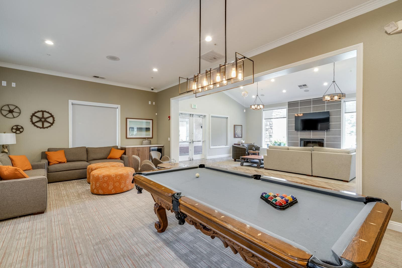 Game Room with Pool Table at Windsor at Redwood Creek, Rohnert Park, CA