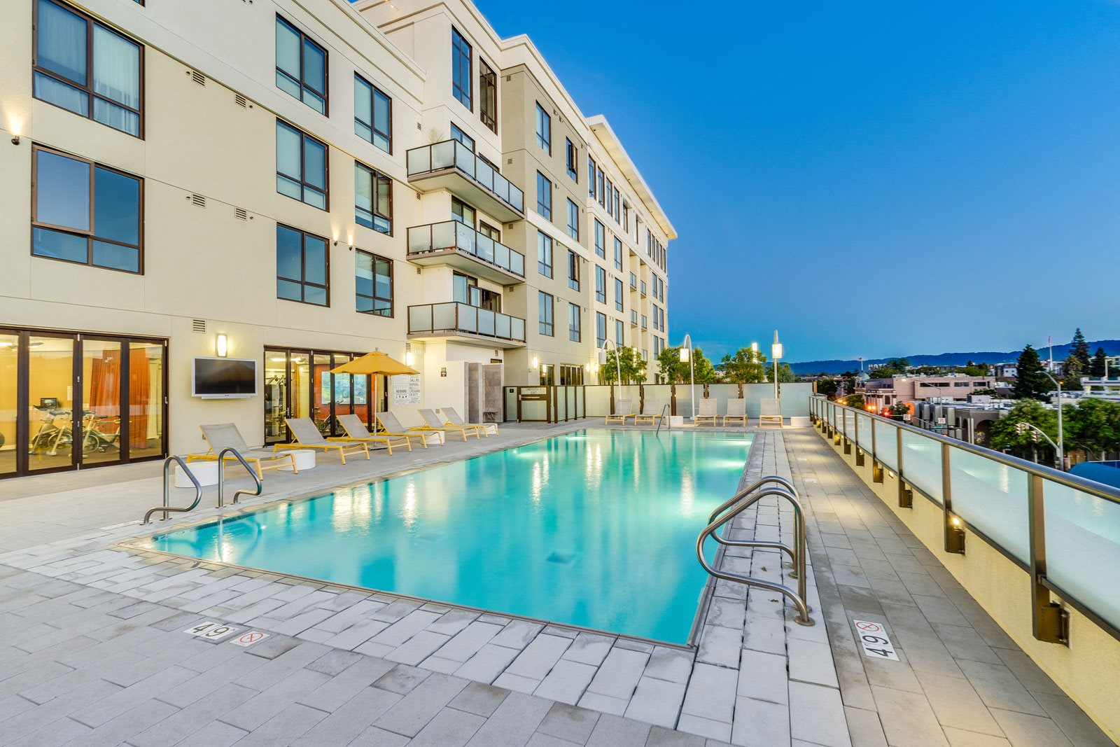 Resort-Style Rooftop Pool at The Marston by Windsor, Redwood City, 94063
