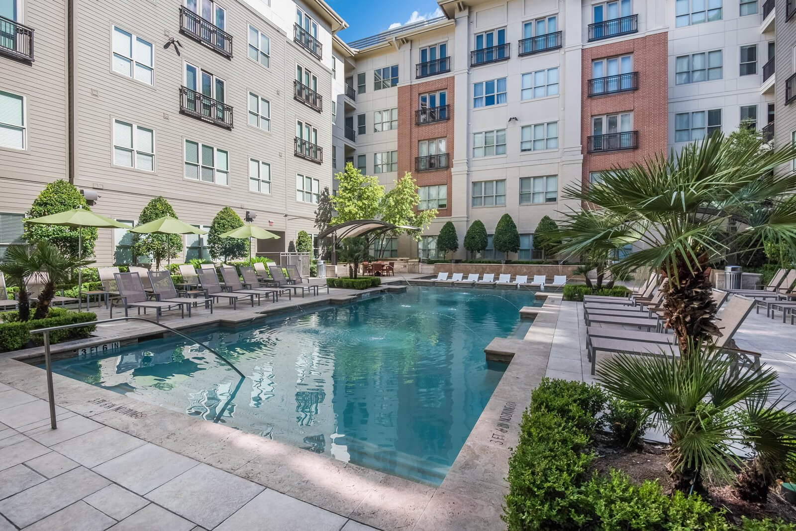 Turquoise Swimming Pool at Windsor at West University, 2630 Bissonnet Street, Houston