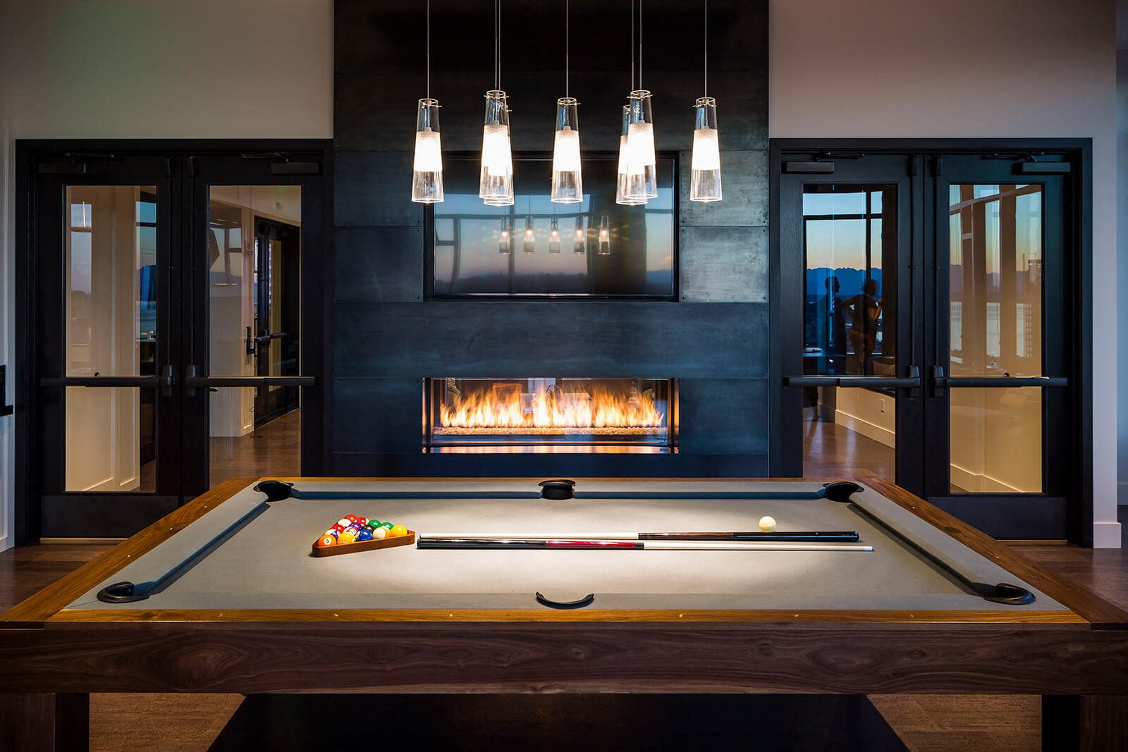 Billiards Table In Sky Lounge at Cirrus, Seattle, WA