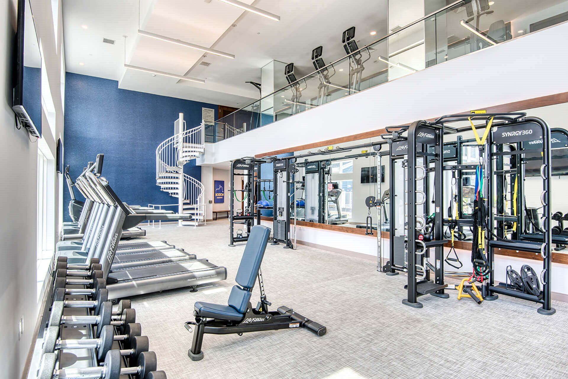Fully-equipped fitness center, at Hopkinton by Windsor, Hopkinton, Massachusetts