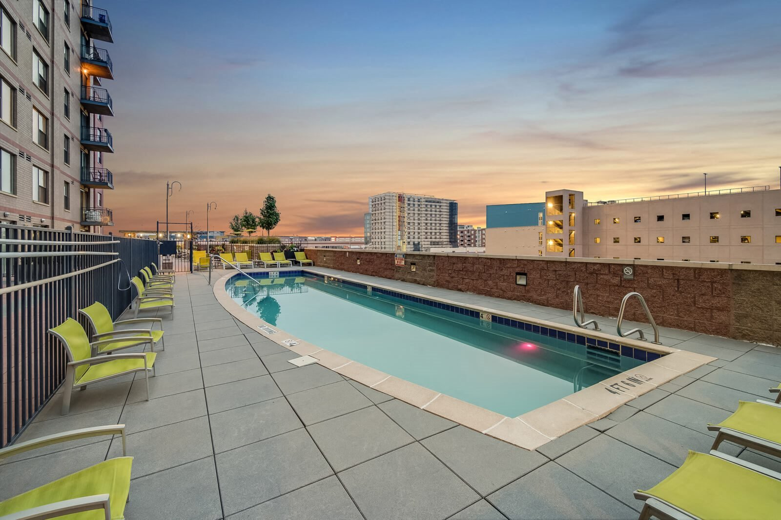 Pool with Sundeck and Stunning Views at The Manhattan Tower and Lofts, Denver, Colorado