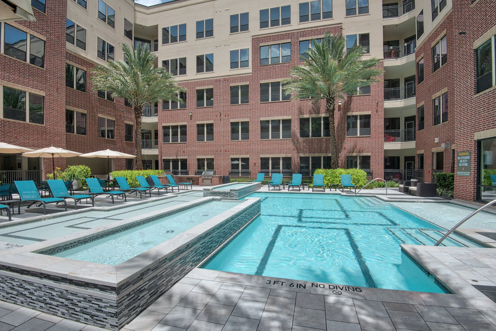 Outdoor Grilling Stations and Lounge Areas at Midtown Houston by Windsor, 77002, Houston