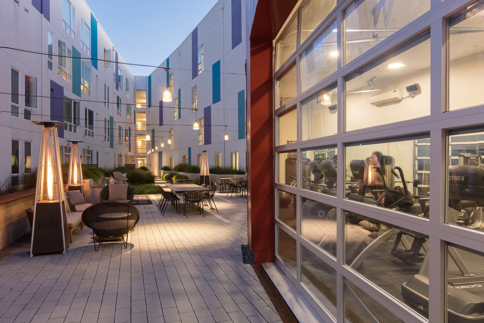 Relaxing Outdoor Lounge Area with Heaters at Mission Bay by Windsor, 94158, CA