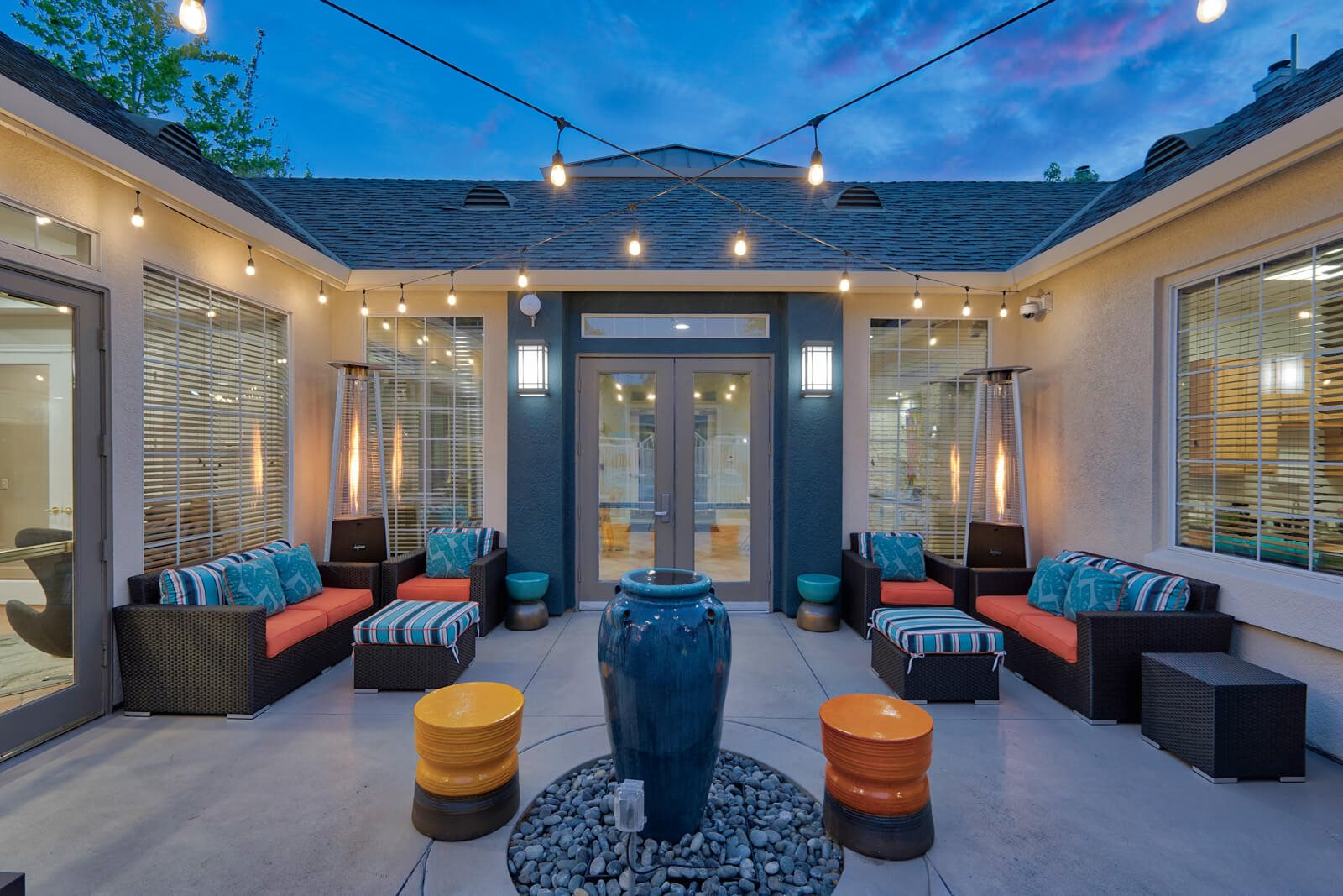 Poolside Lounge With Ample Sitting at Pavona Apartments, 760 N. 7th Street, San Jose