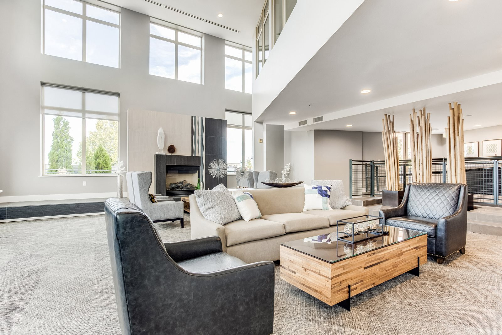 The District, Denver, CO,80222 has newly renovated clubroom.