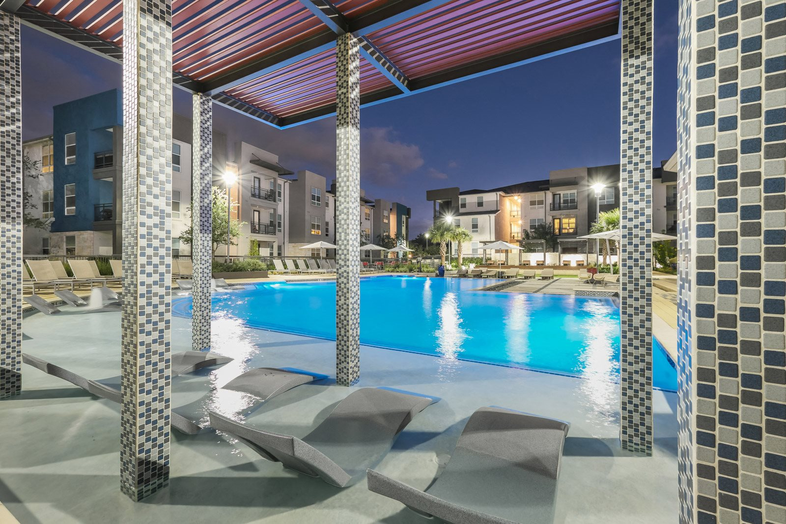 Poolside Lounge Area at Windsor Republic Place, 5708 W Parmer Lane, Texas