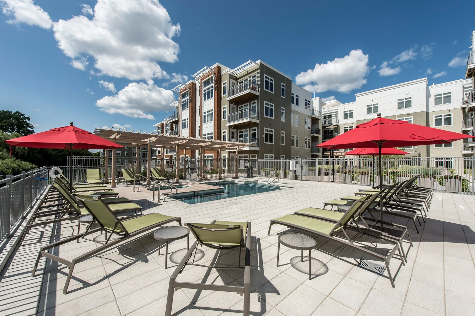 Pool with Spa and Sundeck at Vox on Two, 223 Concord Turnpike, MA