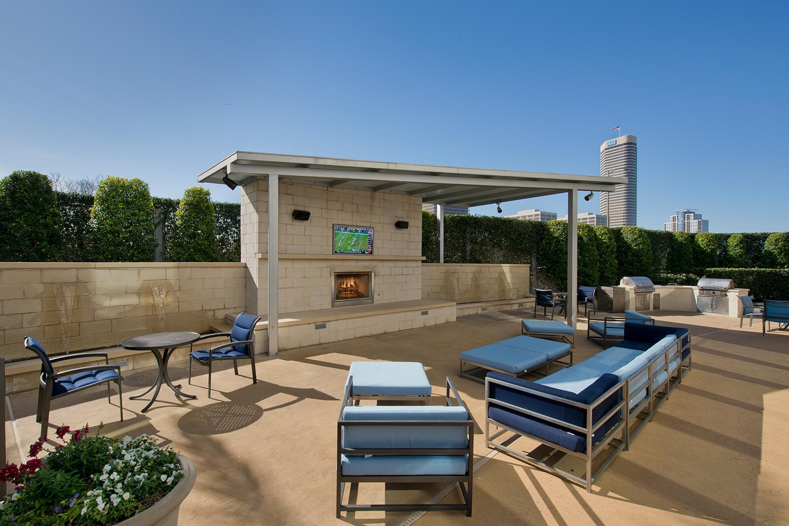 Relaxing Outdoor Lounge with Great Views at Memorial by Windsor, Texas, 77007