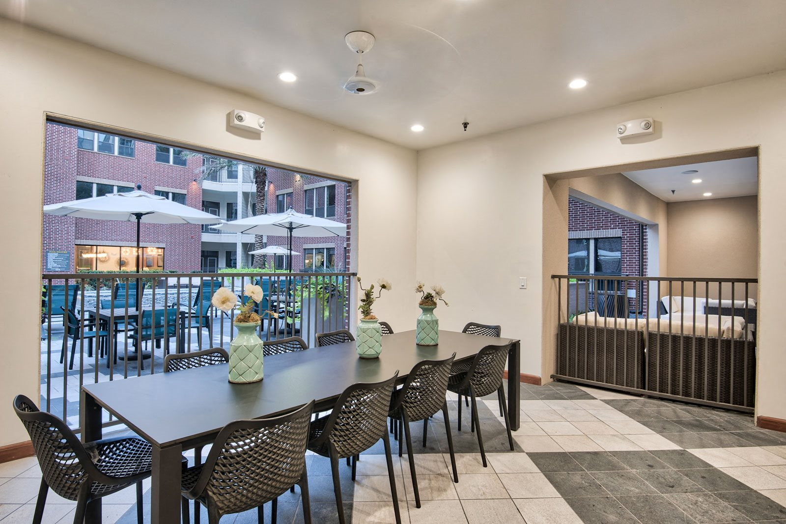 Covered, Open-Air Dining Area at Midtown Houston by Windsor, Texas, 77002