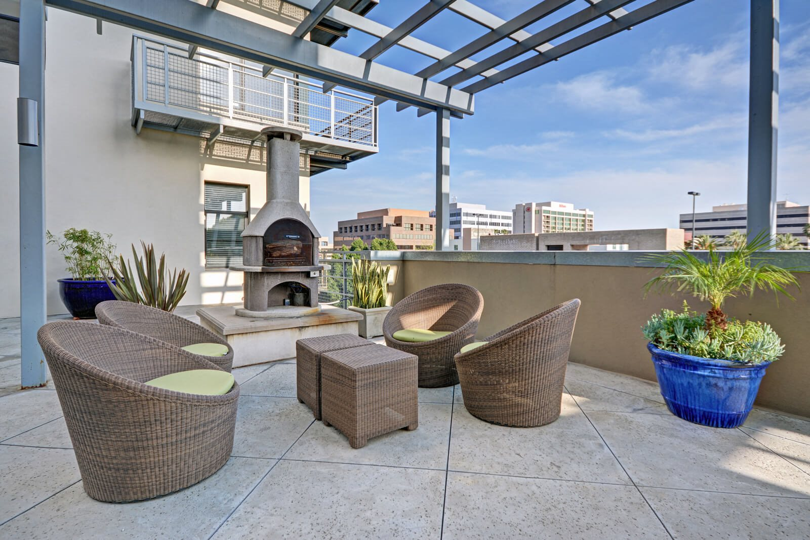 Grand Terrace Lounge with Fireplace at Terraces at Paseo Colorado, Pasadena, 91101