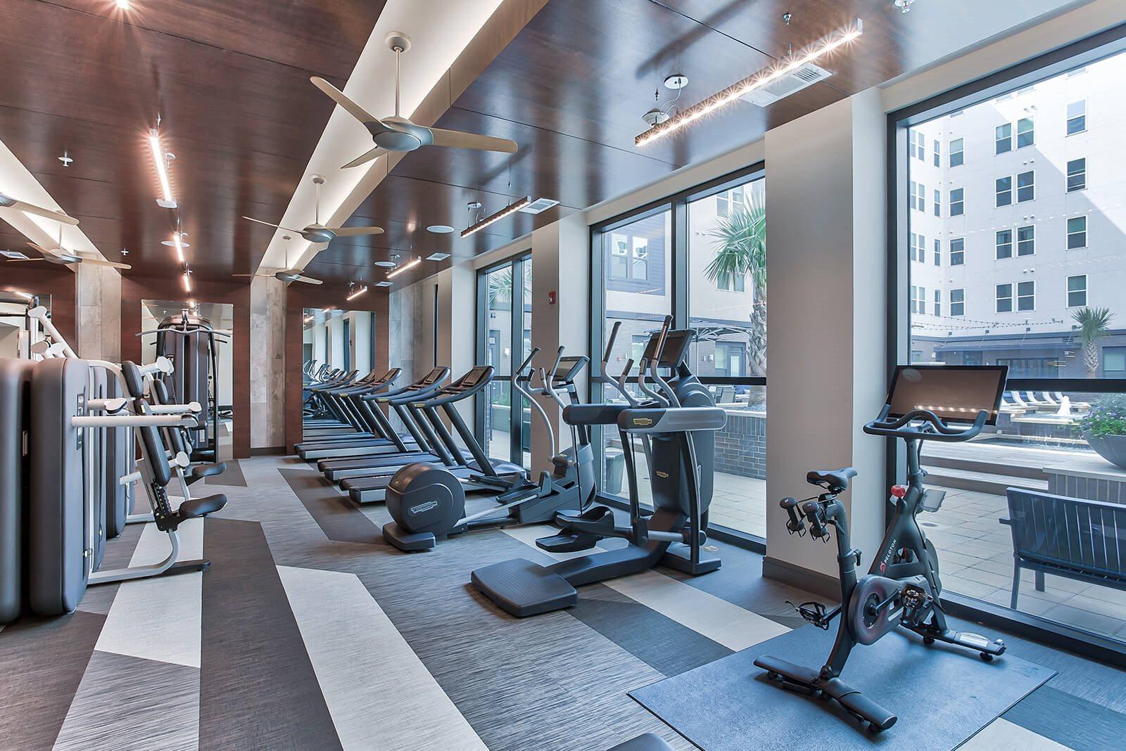 TechnoGym Equipped, European Spa-Inspired Fitness Studio at Windsor Turtle Creek, Texas