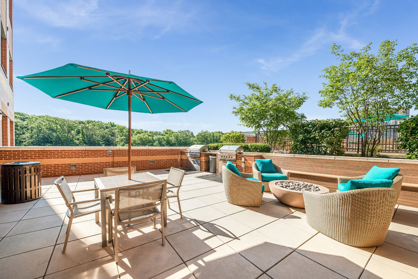 BBQ Grill Area with Fire Pit at Twenty50 by Windsor, 2050 Central Road, Fort Lee