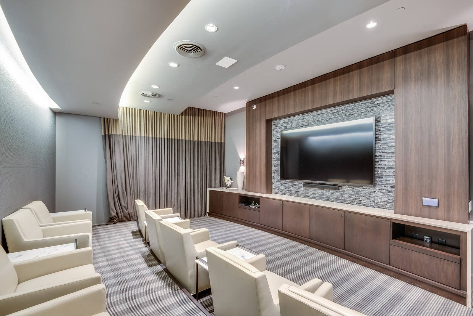 Screening Room With HDTV and Surround-Sound at Windsor at West University, Houston, 77005