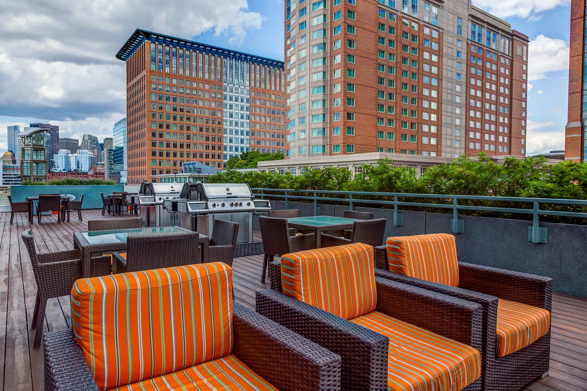 Grilling and Dining Area at Waterside Place by Windsor, 505 Congress S, MA
