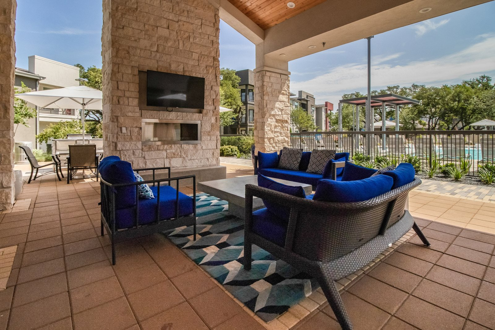 Covered Outdoor Lounge at Windsor Republic Place, 5708 W Parmer Lane, Austin