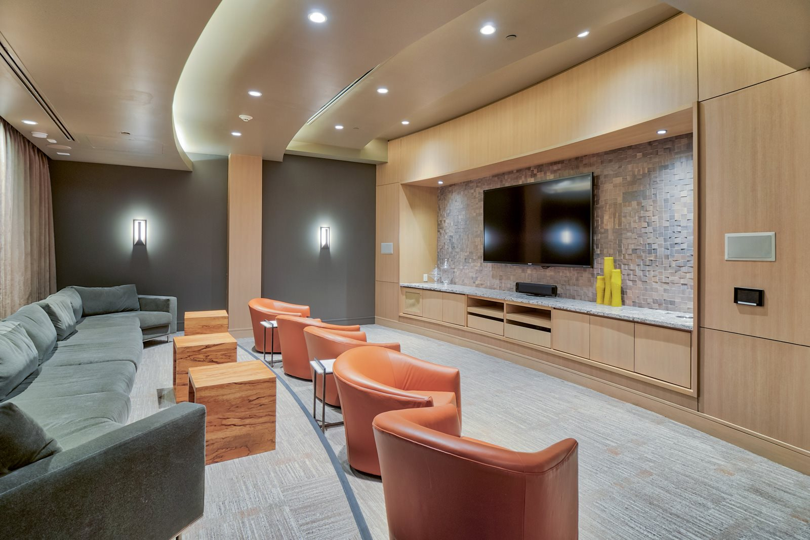 Screening and Movie Room at Olympic by Windsor, 936 S. Olive St, Los Angeles