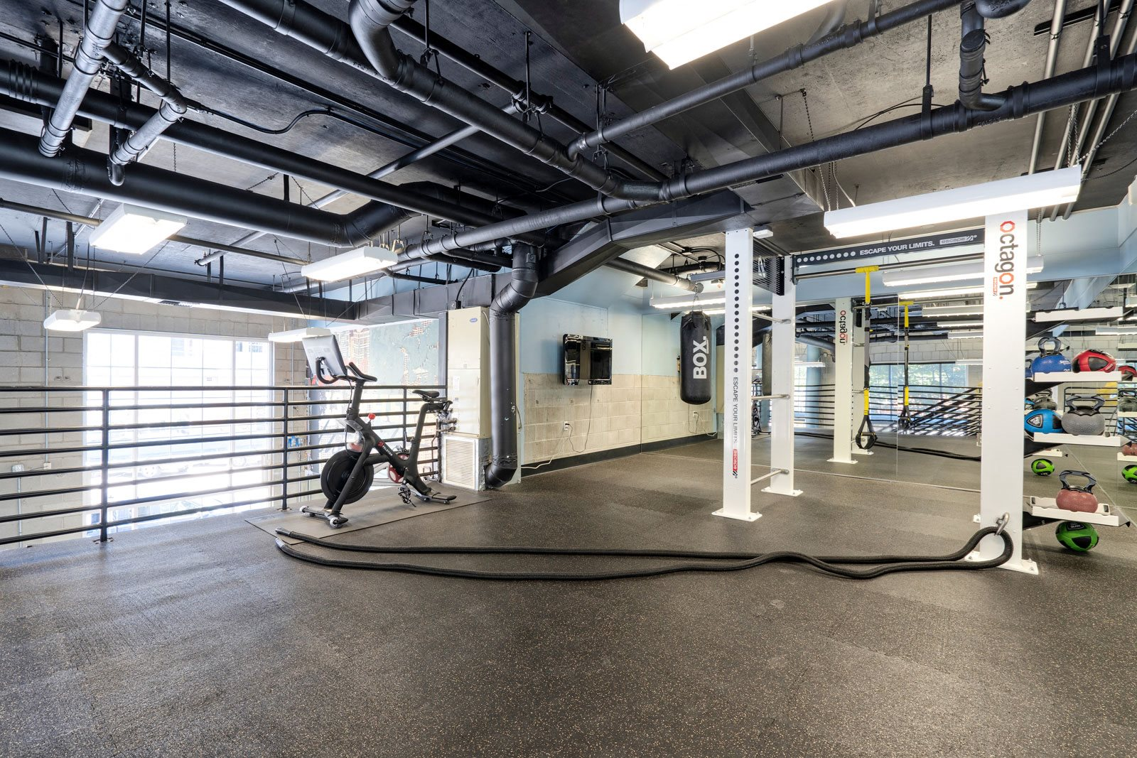 Peloton Bike and Training Space at Allegro at Jack London Square, Oakland, 94607