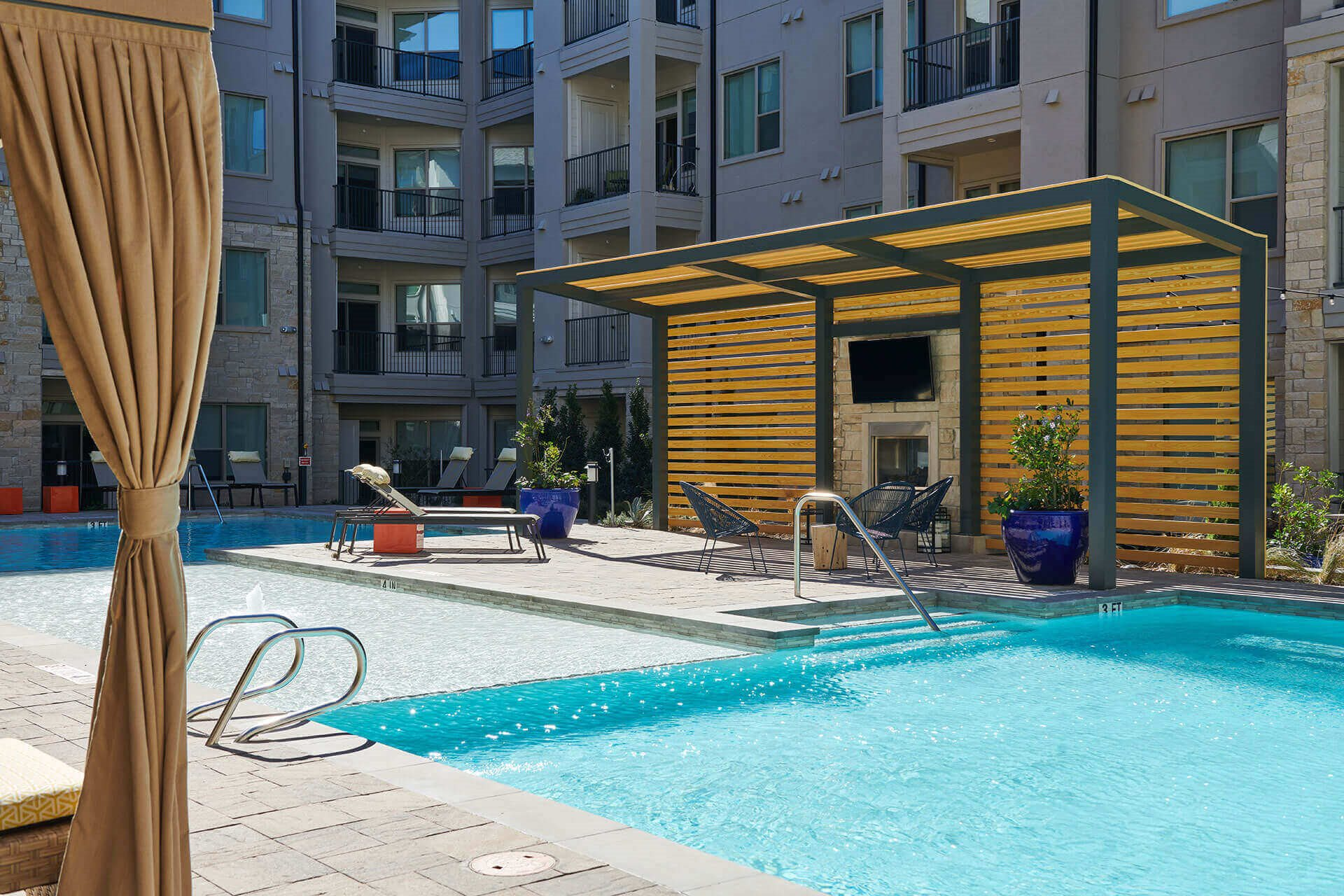 Pool Deck with TV at Windsor Burnet, 78758, TX