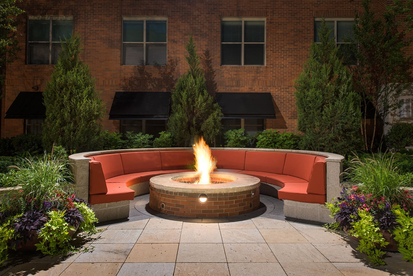 Courtyard Fire Pit at Windsor at Cambridge Park, 160 Cambridge Park Drive, MA