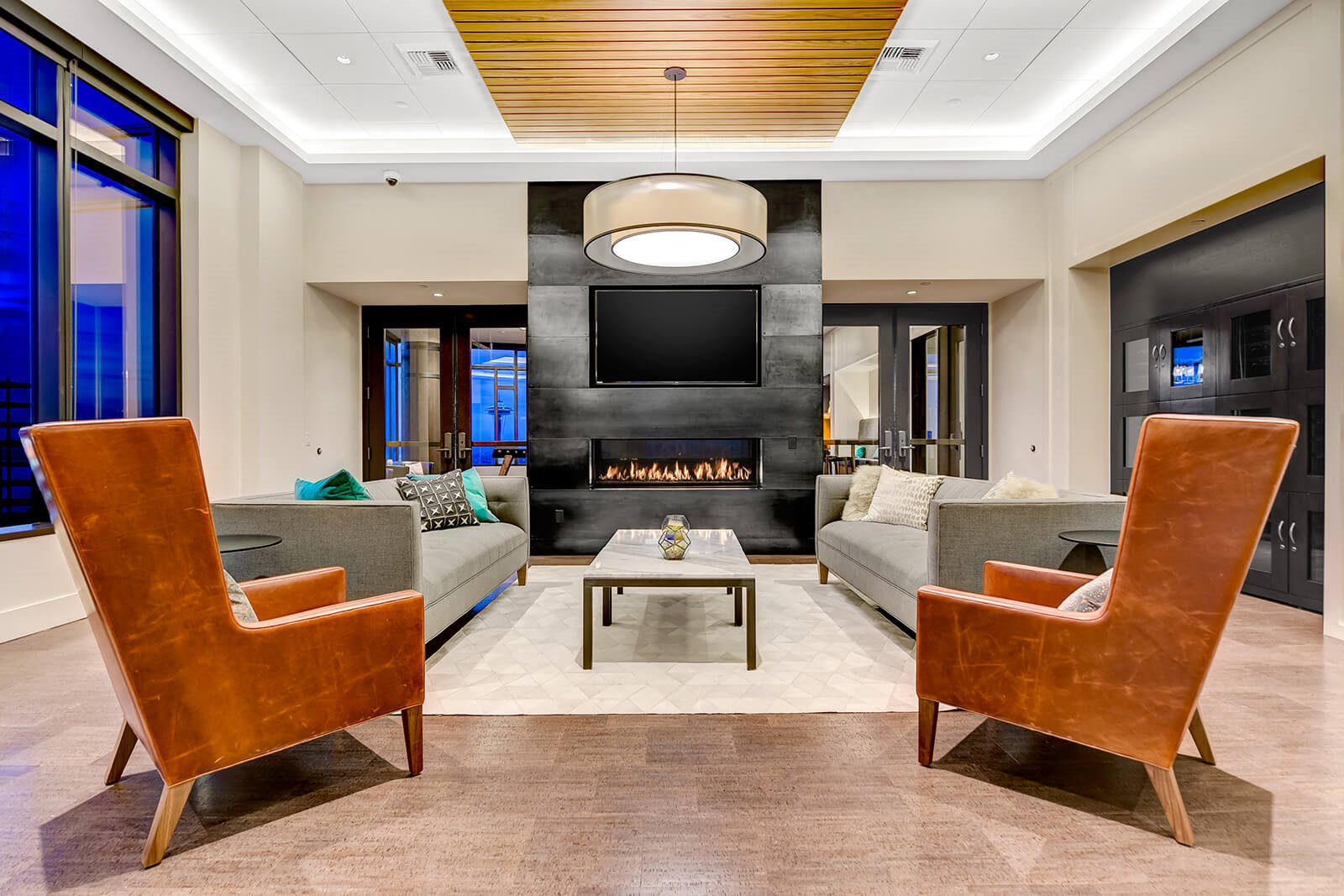 Sky Club with Fireplace at Cirrus, Seattle, 98121
