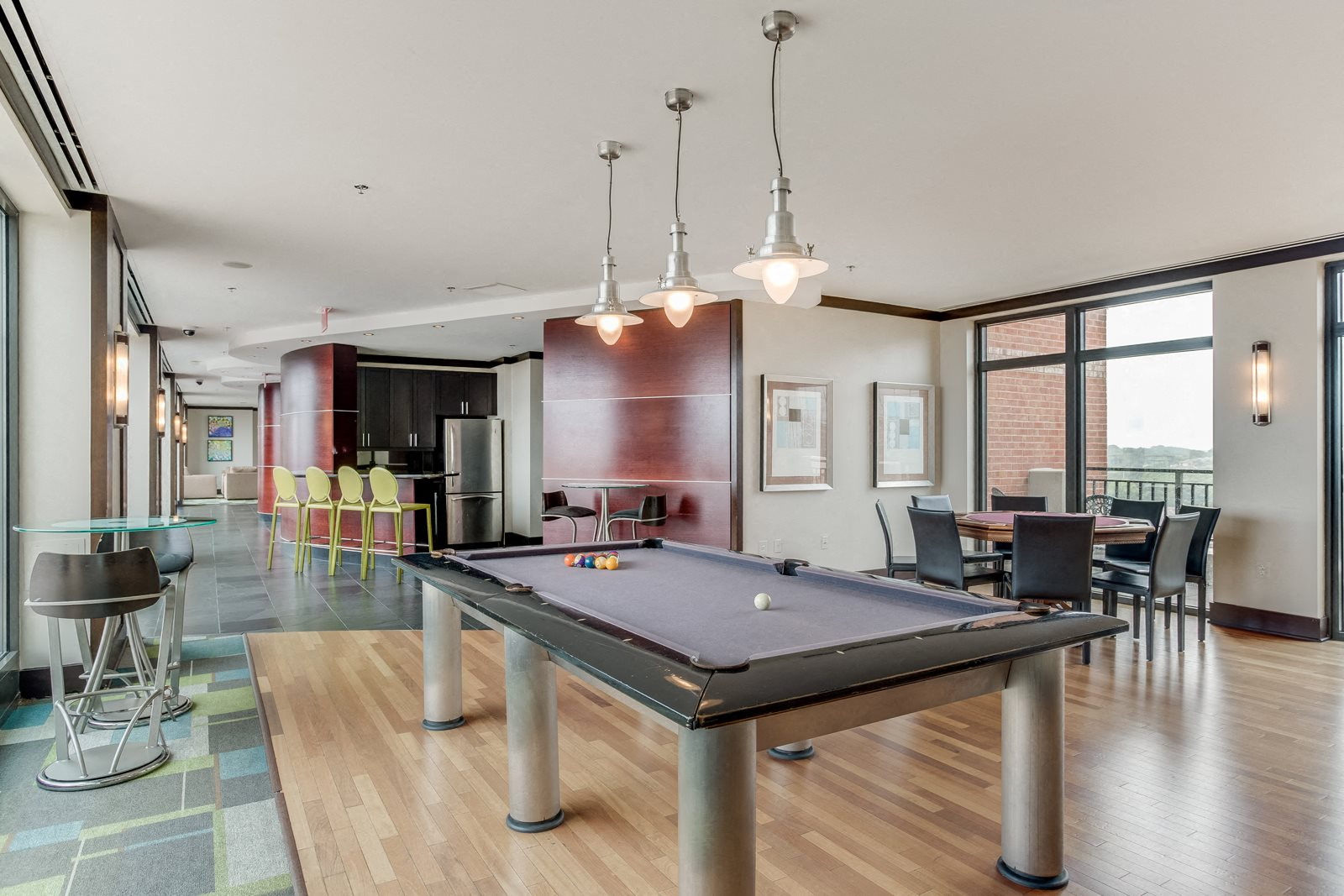 Billiards Table in Resident Lounge at Halstead Tower by Windsor, Alexandria, VA