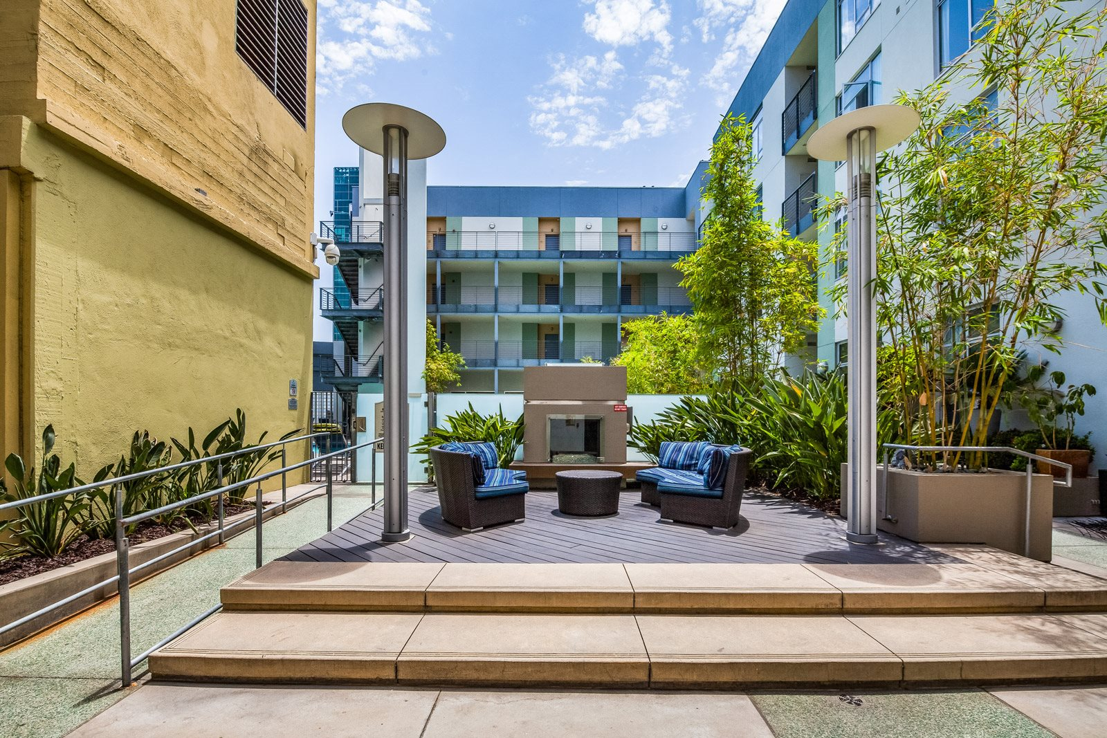 Open Air Courtyard at Sunset and Vine, Los Angeles, California