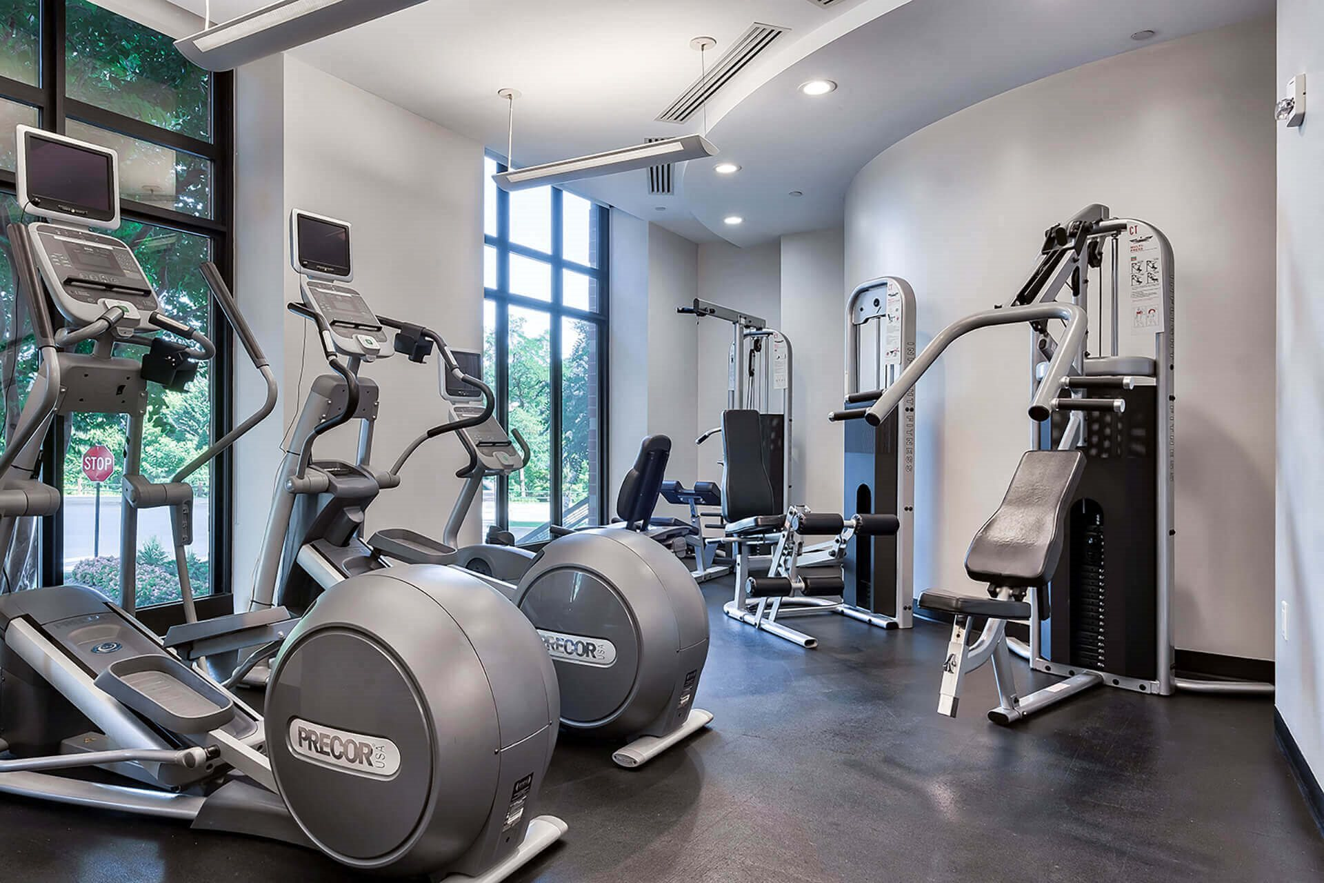 24-hour fitness center at IO Piazza by Windsor, 2727 South Quincy Street, VA