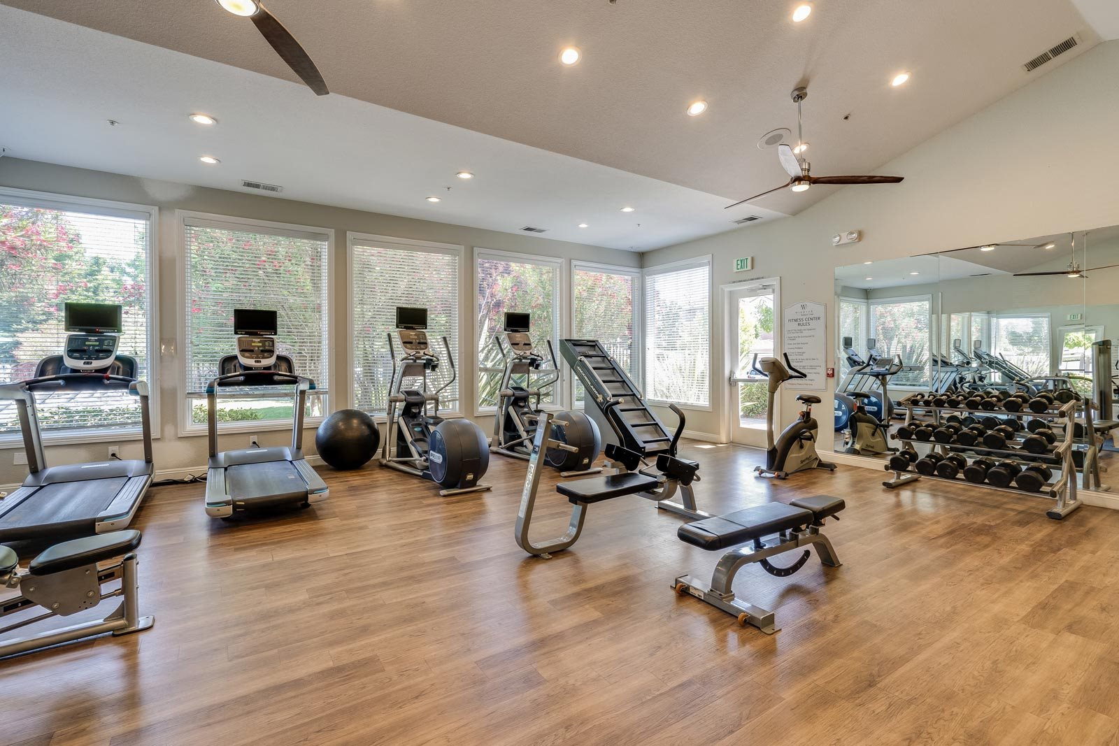 Fully-Equipped Fitness Center at Windsor at Redwood Creek, California, 94928