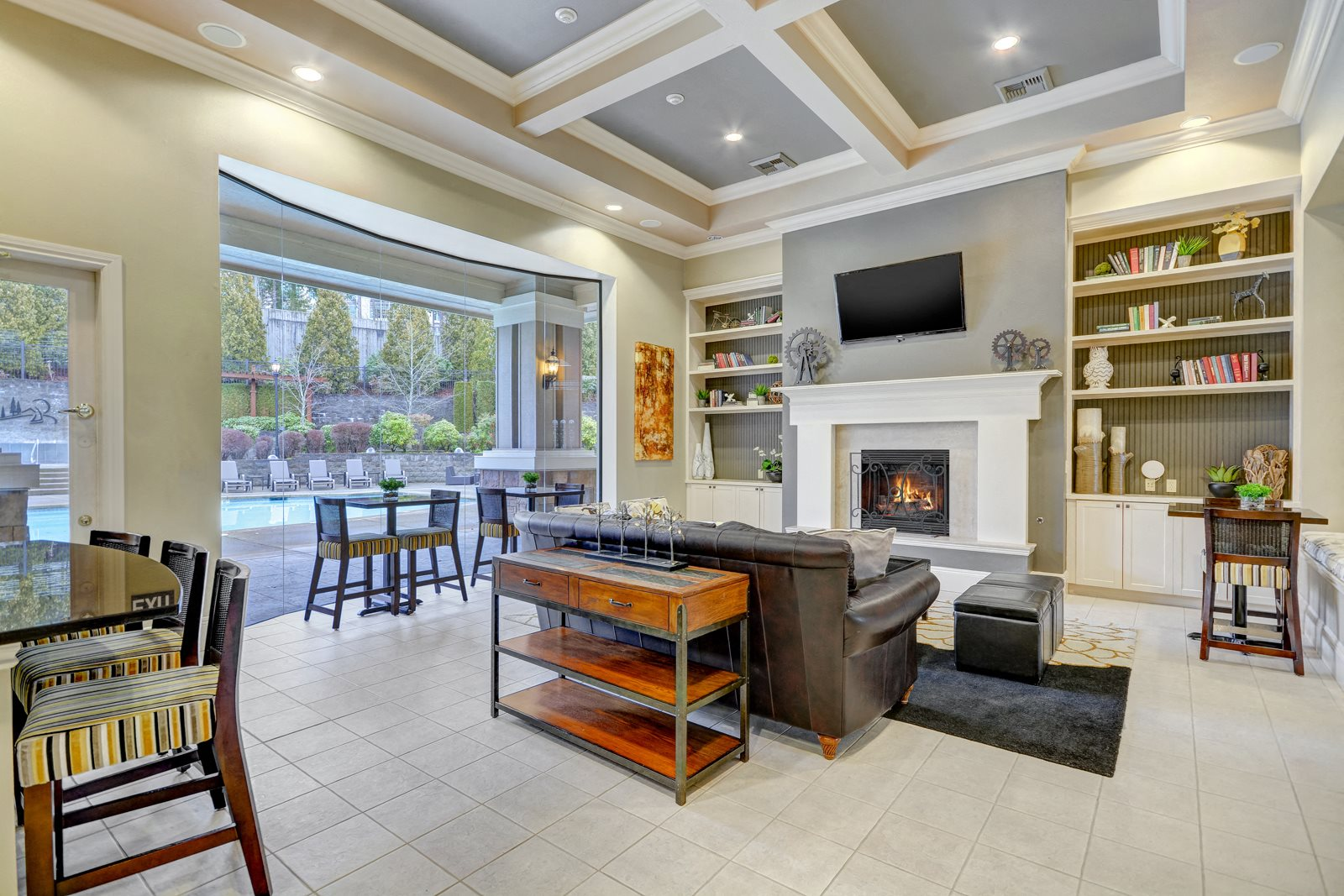 Relaxing Lounge at Reflections by Windsor, Washington, 98052