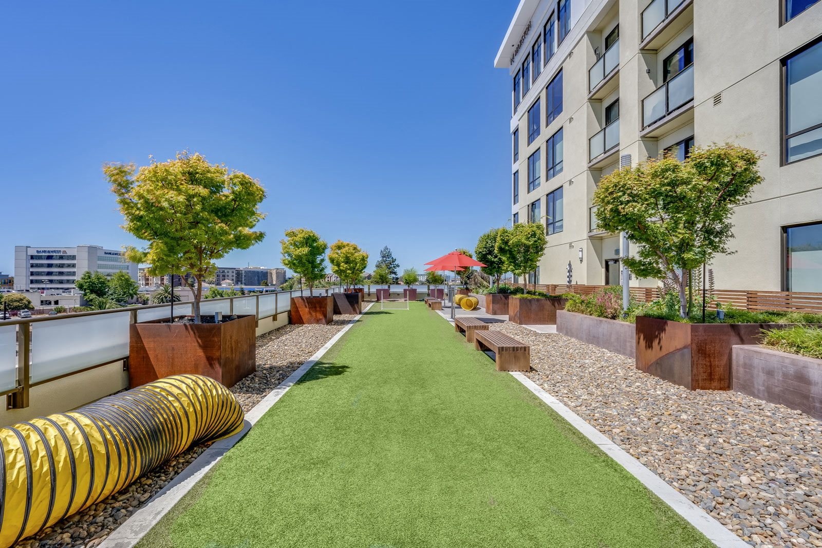 Outdoor Lounge at The Marston by Windsor, 825 Marshall Street, CA