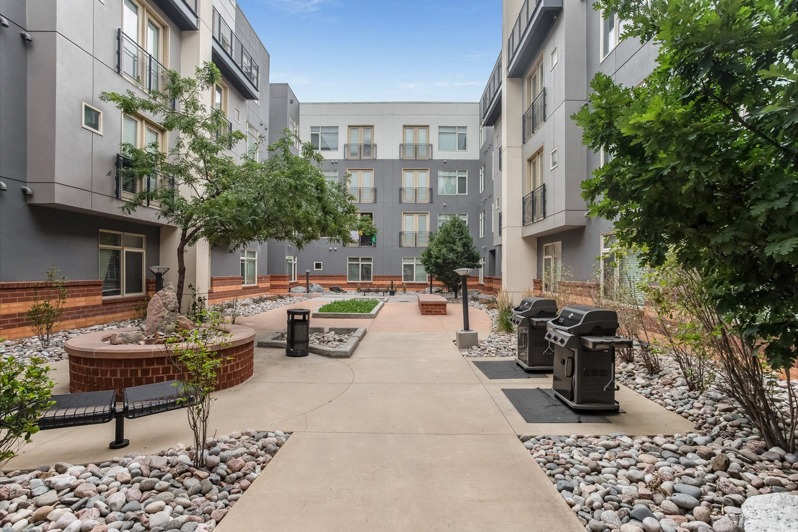 courtyard encloses at The District, Denver, CO,80222