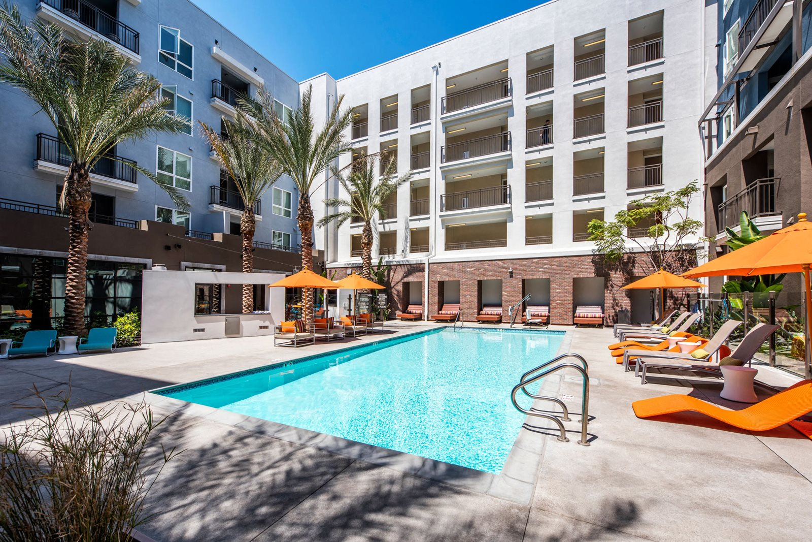 Resort-Style Pool with Sundeck at Malden Station by Windsor, 92832, CA